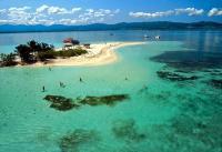 Guadeloupe, îlet Caret grand cul de sac marin