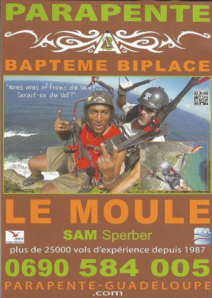 PPK Plongée Guadeloupe en parapente