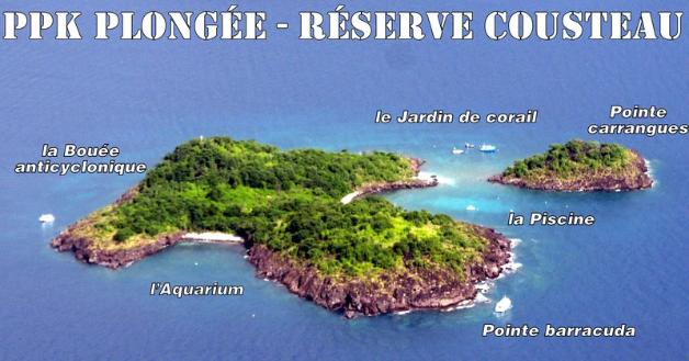 PPK plongée, plong, guadeloupe, îlets pigeons, réserve Cousteau